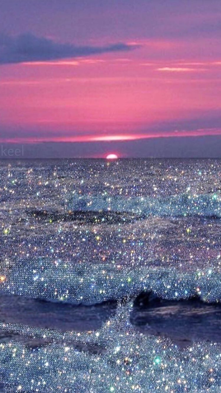 Glittery Sea Glitter Photography Pretty Wallpapers Aesthetic