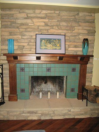 Decorative Tile For Fireplace Hearth And Stone Tile  Tile Fireplace Photos  Custom Masonry And