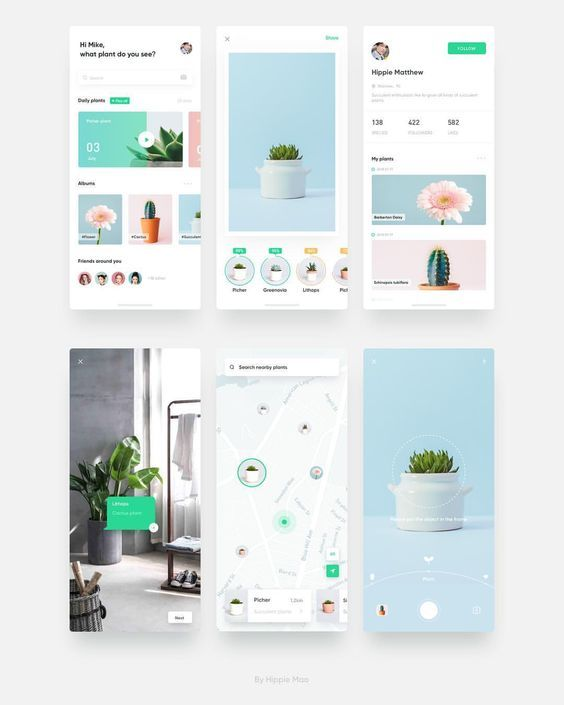 This is our daily android app design inspiration -   13 plants design layout ideas