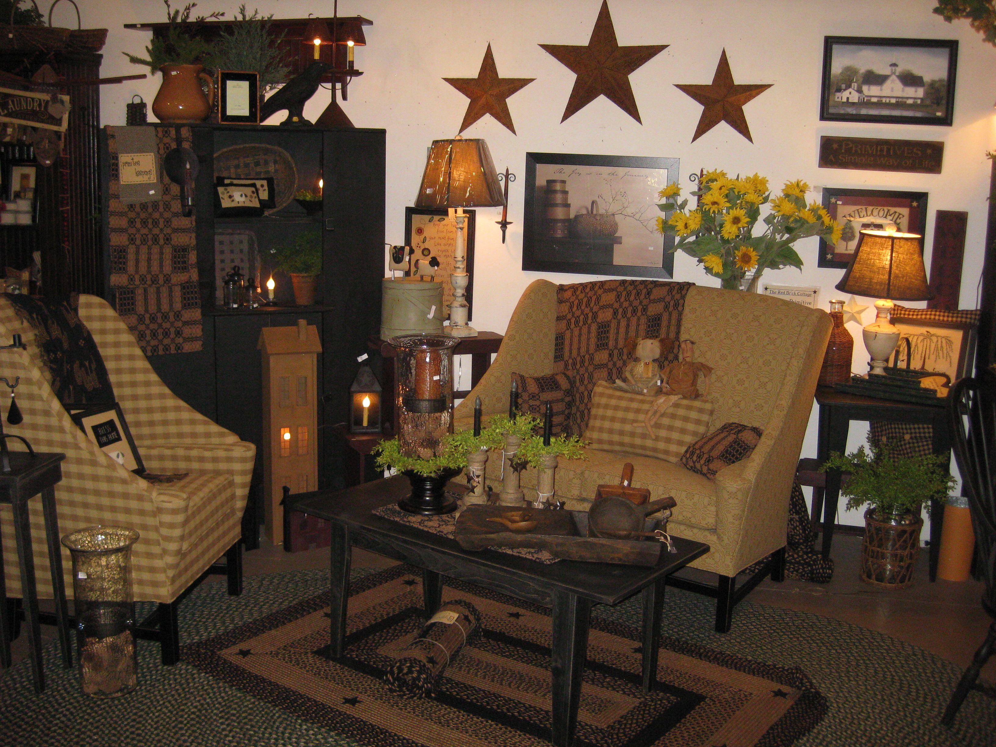 Primitive living room furniture - Johnston Benchworks Furniture The Red Brick Cottage Radcliff Ky Www Theredbrickcottage