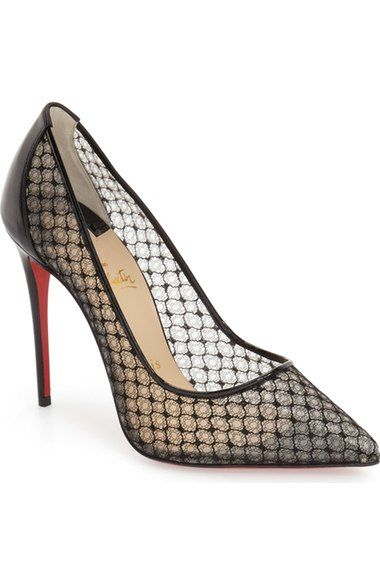 88dc85bf628 Christian Louboutin  Follies  Lace Pointy Toe Pump available at  Nordstrom