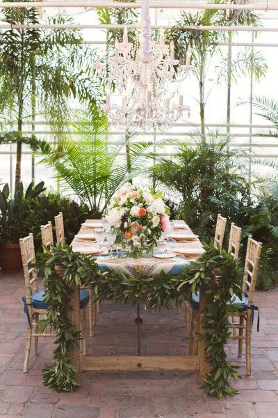Botanical wedding tablescape #gardenwedding #weddingreception #tablescape #botanical #weddingdecor
