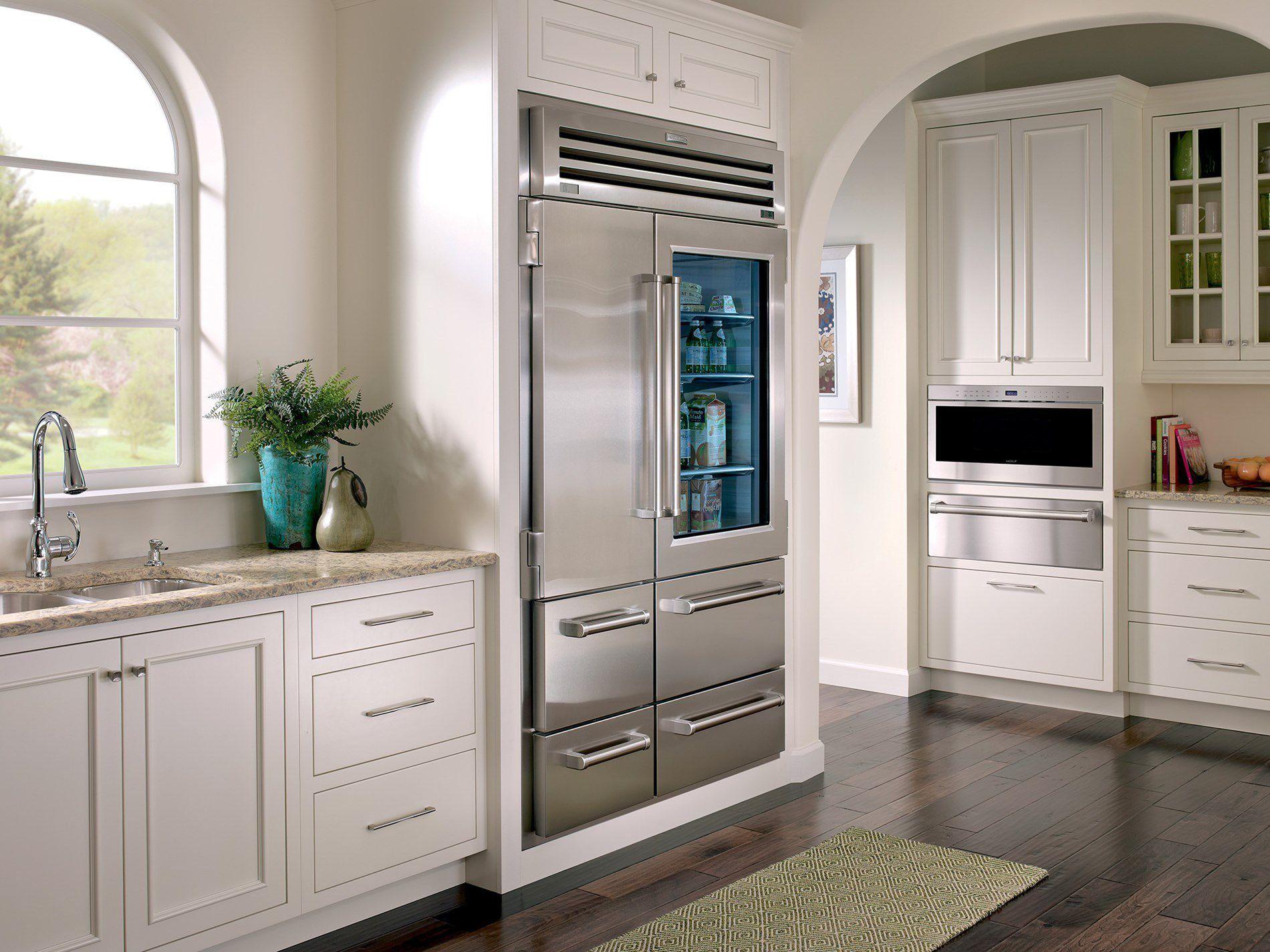 Kitchen Glass Door Refrigerator Wearefound Home Design Inside Glass