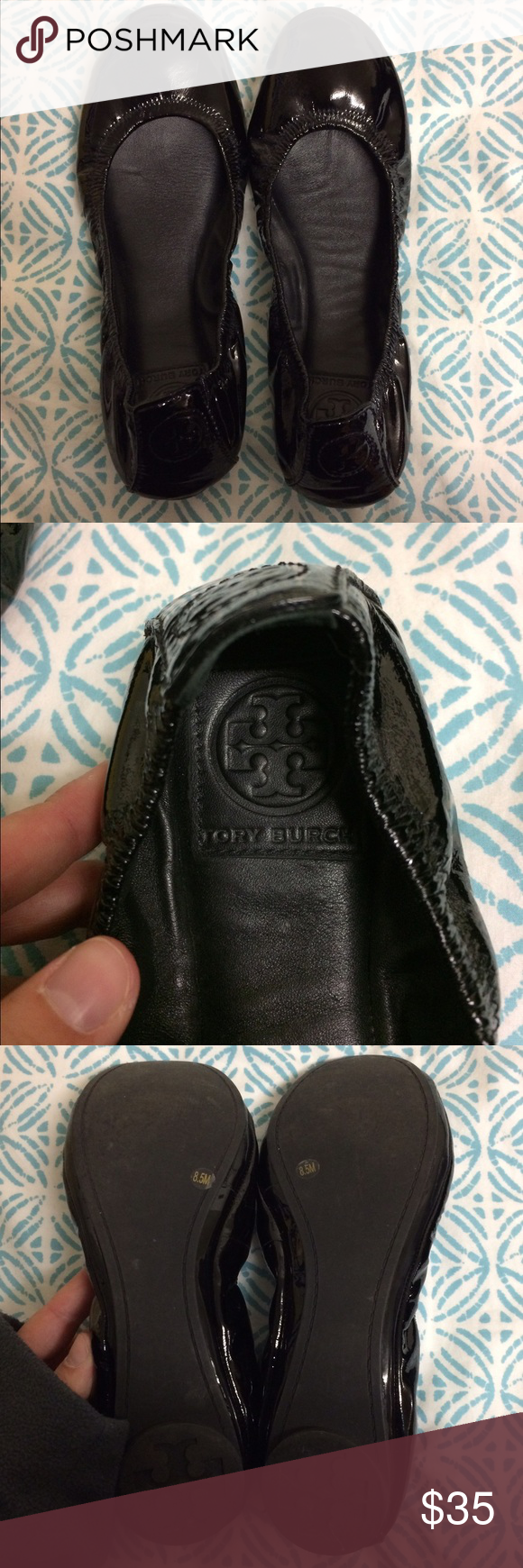 Tory Burch Flats Hardly worn, still perfect condition! Just don't wear enough. Extremely soft and comfortable. Tory Burch Shoes Flats & Loafers