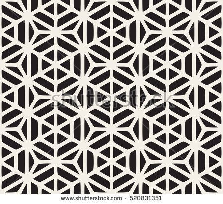 Vector Seamless Black And White Geometric Hexagon Rounded Grid Pattern Abstract Geometric Back Geometric Tattoo Pattern Pattern Tattoo Geometric Tattoo Design