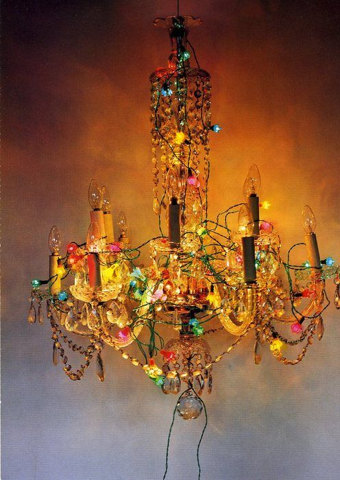 Boho Light Maybe Find That Throw Away Chandelier And Jazz It Up With All The