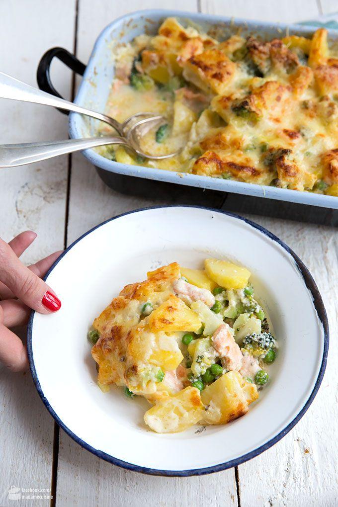 Kartoffel-Brokkoli-Auflauf mit Lachs - Madame Cuisine #foodrecipies