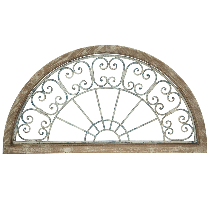 Distressed White & Blue Arch Wood Wall Decor in 2020