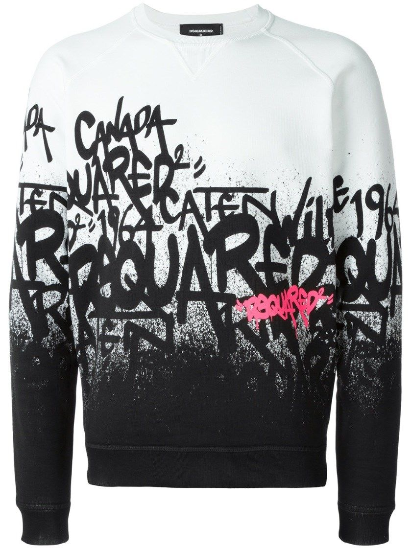 DSQUARED2 Graffiti Logo Sweater.  dsquared2  cloth  activewear ... db9e7a381cd8