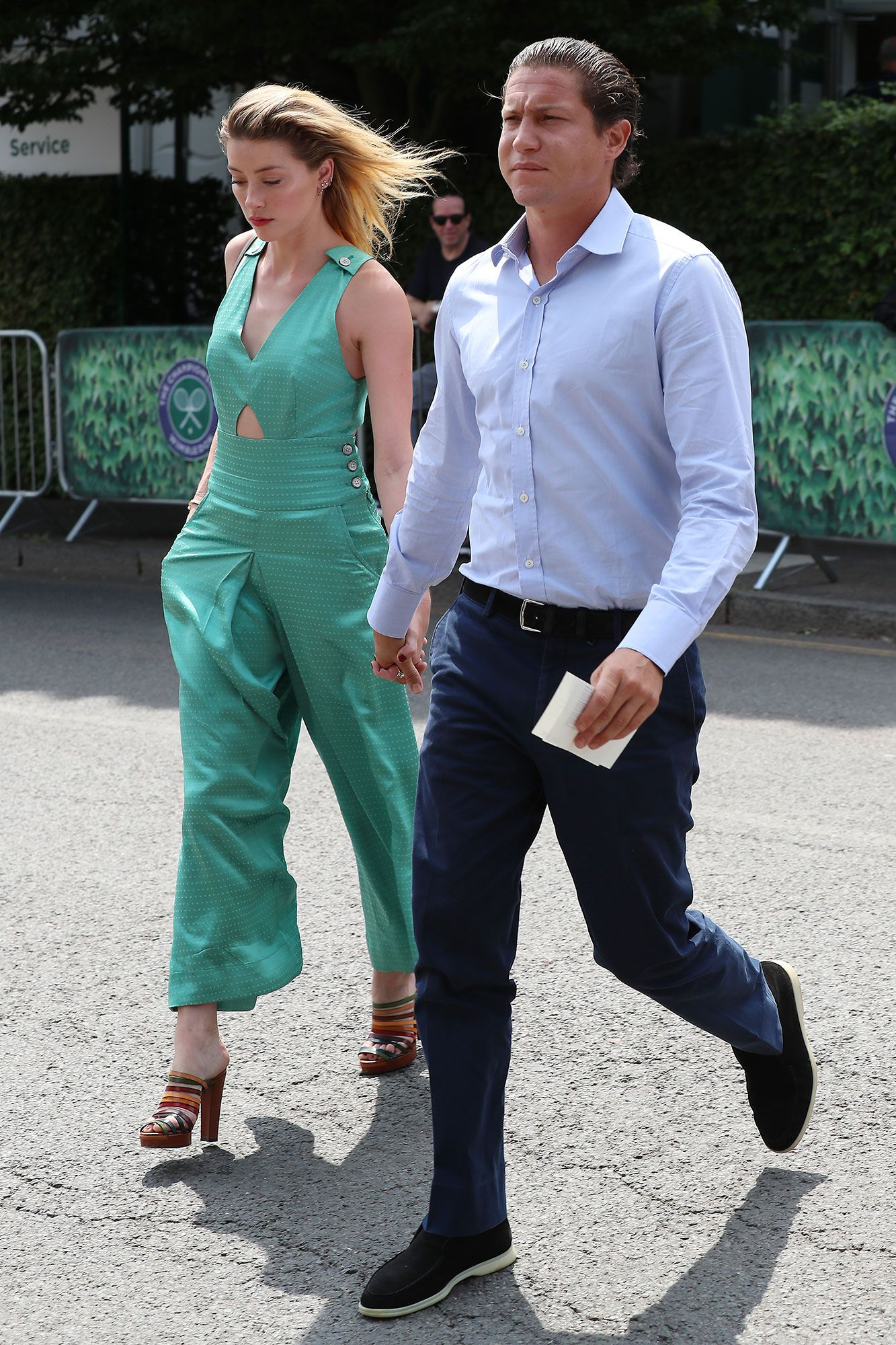 Heating Up! Amber Heard and Vito Schnabel Hold Hands on Wimbledon Date