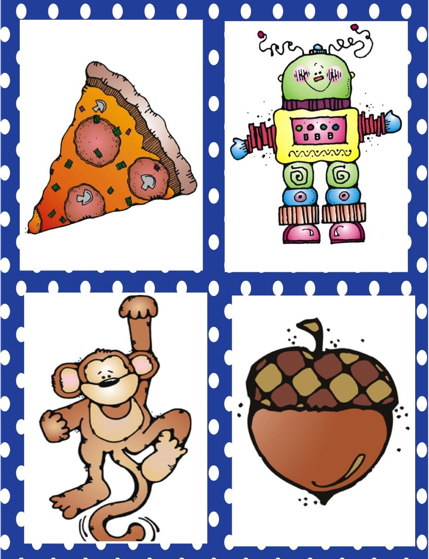 Initial Sound Fluency Picture Cards Letter sound