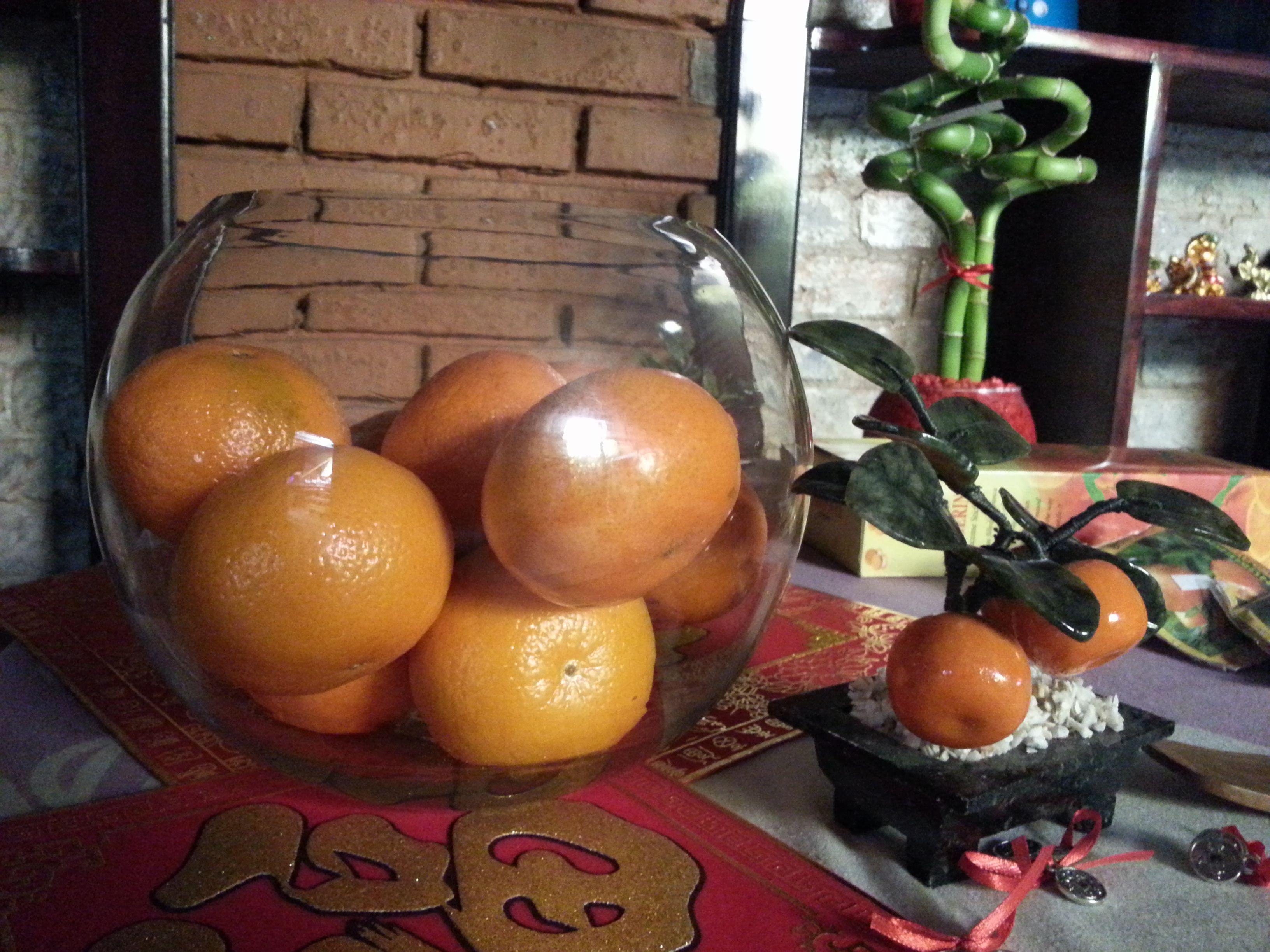Las mandarinas se comen durante el Año Nuevo Chino y simbolizan prosperidad