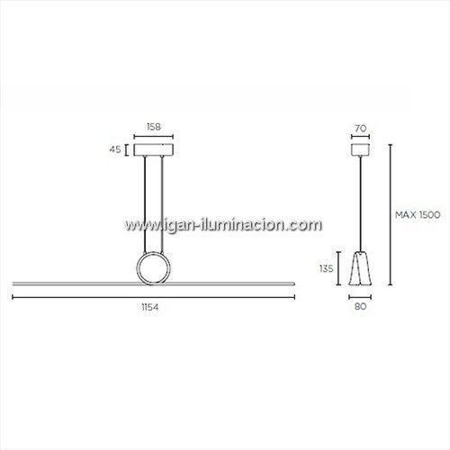 Curl 8x3w de LED colgante C4 Lampara aluminio blanco Leds Nwm8n0