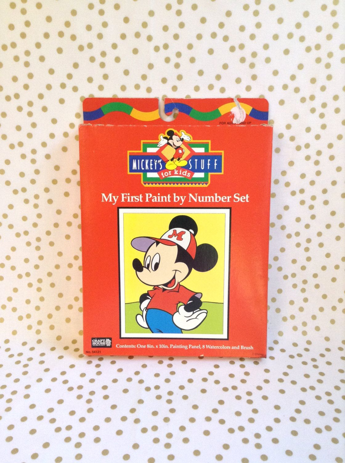 Mickey Mouse Paint By Number Art And Craft Unopened Kit By