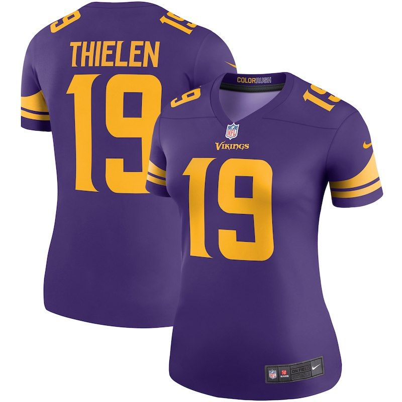online store c7097 e7751 Adam Thielen Minnesota Vikings Nike Women's Color Rush ...