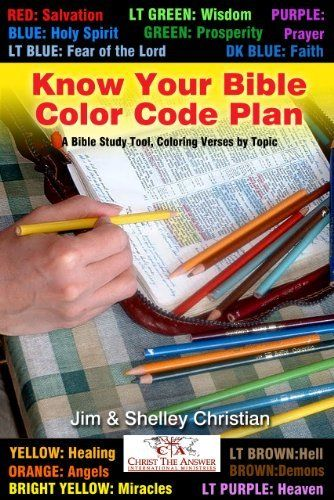 Know Your Bible Color Code Plan: A Bible Study Tool, Coloring Verses by Topic by Jim Christian. $3.76