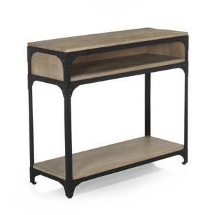 Yulie Table de Console en Bois Table dappoint avec 2 Tiroirs et Etag/ère Meuble de Rangement pour Salon Chambre Bureau