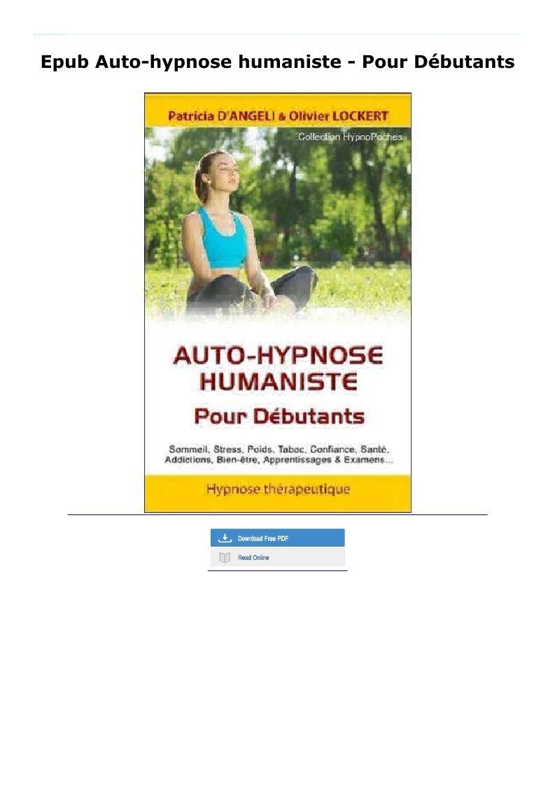 Epub Auto Hypnose Humaniste Pour Debutants Paperbacks