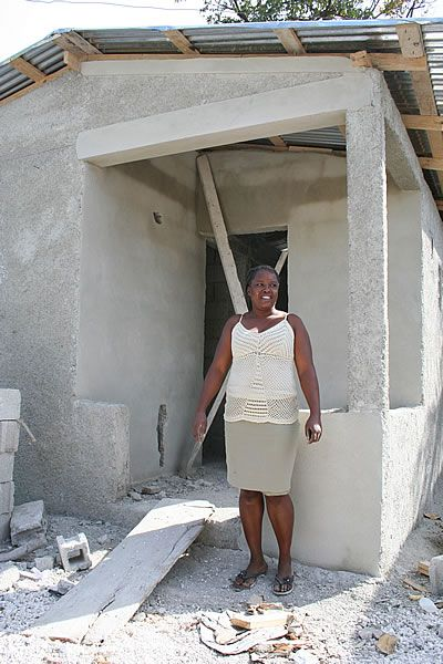 CWS is helping families rebuild their homes after the Haiti earthquake. Long-term recovery. Make it happen.