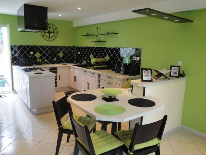 photo decoration cuisine noir et vert pomme 712 534 moner pinterest. Black Bedroom Furniture Sets. Home Design Ideas
