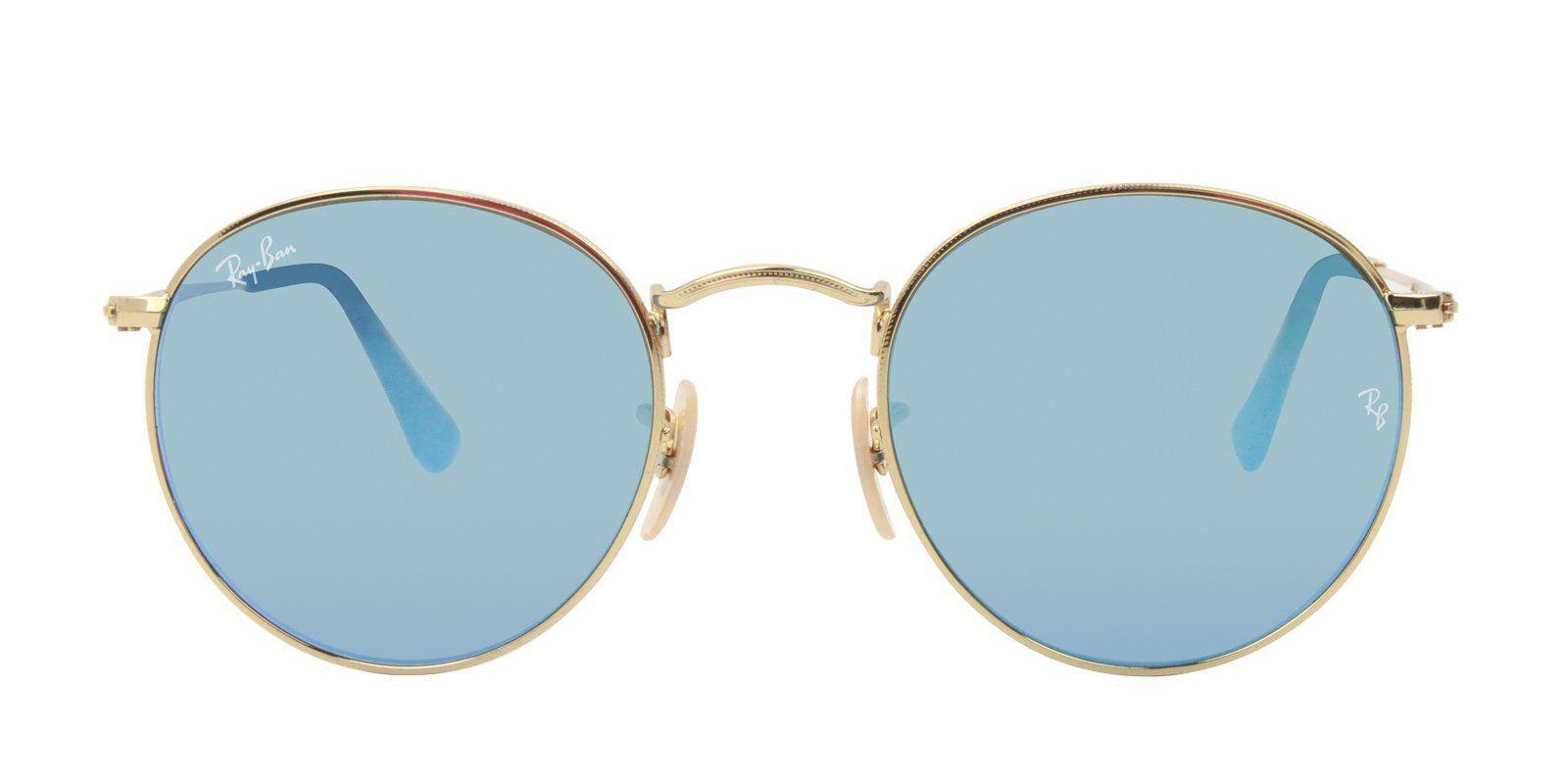 86e952b350 Ray Ban - Round Metal Gold - Blue sunglasses– Designer Eyes