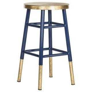 Admirable Safavieh Emery Navy Gold 24 Inch Counter Stool Target Creativecarmelina Interior Chair Design Creativecarmelinacom