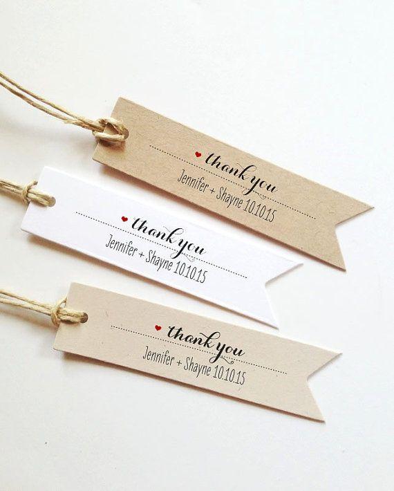 Wedding Thank You Gift Tags: 25 Wedding Thank You Tags Wedding Gift Tags Bridal Shower