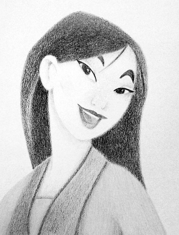 Line Drawing With Shading : Mulan no line drawing shading only pencil