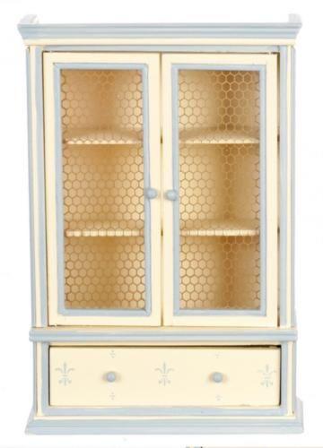 Melody Jane Dolls House Blue Cream Dresser Miniature Shabby Chic