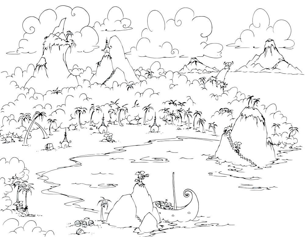 Island Of The Blue Dolphins Coloring Pages by Laura