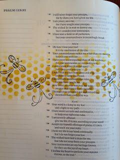 Bible Art Journal Entry:  Sweeter Than Honey