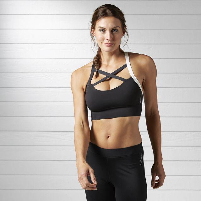 New Reebok Camo Sports Bra Vest Top Ladies Womens Running Gym Training Fitness