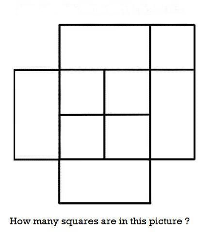 How Many Squares Are In This Picture Math Riddles Maths Puzzles Brain Teasers