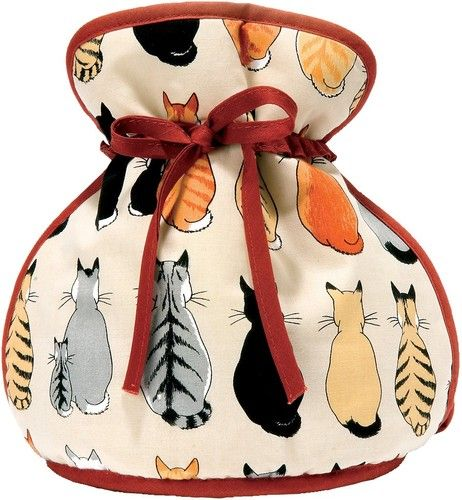 """Ulster Weavers /""""New Cats in Waiting/"""" Design Cotton Padded Tea Cosy Muff"""
