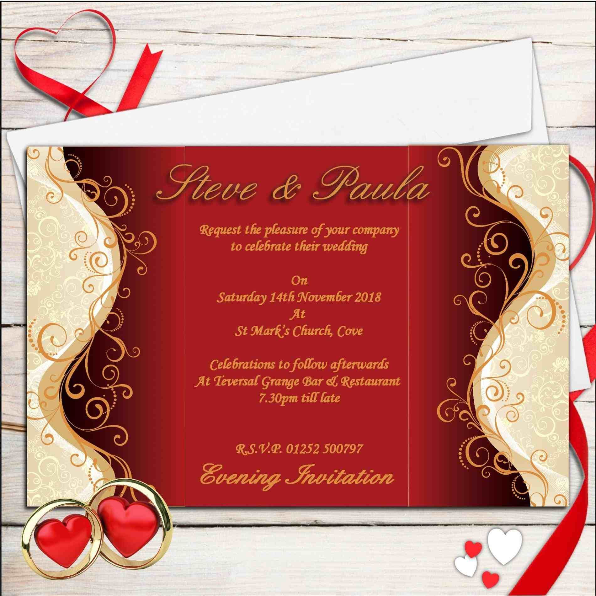 TOP +10 New post red and gold wedding invitations visit wedbridal ...