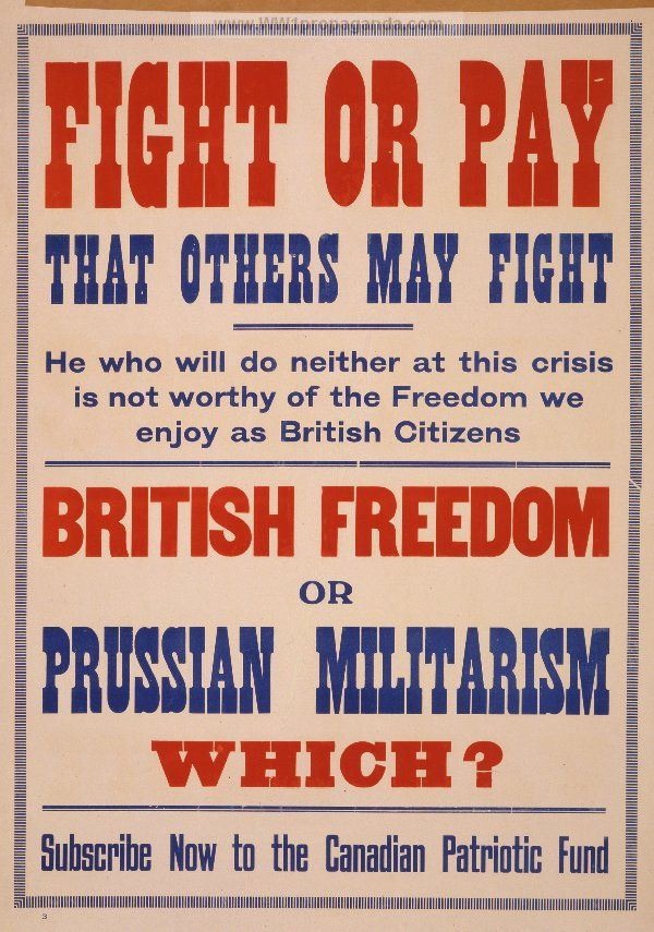 Examples of Propaganda from WW1 | Canadian WW1 Propaganda Posters ...