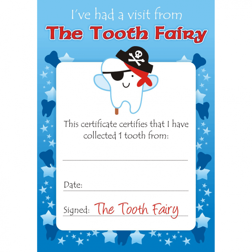 Boys Tooth Fairy Certificates Tooth fairy, Boy tooth