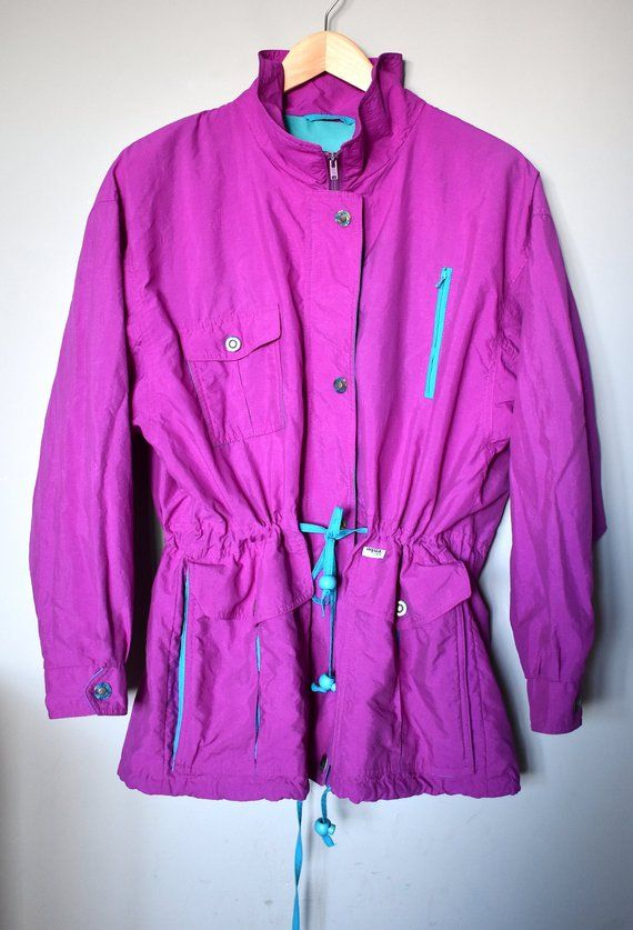 better price for variety of designs and colors premium selection Vintage 90's bright pink windbreaker/ 90's fuchsia rain ...