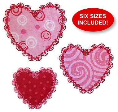 FREE Petite Lace Hearts Applique   Things I love   Pinterest ...