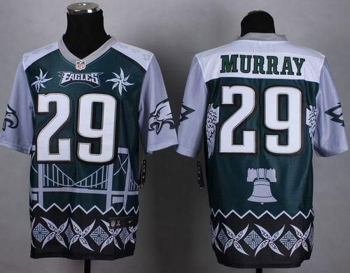 "$35.88 at ""MaryJersey""(maryjerseyelway@gmail.com) Nike Eagles 29 DeMarco Murray Midnight Green Men Stitched NFL Elite Noble Fashion Jersey"