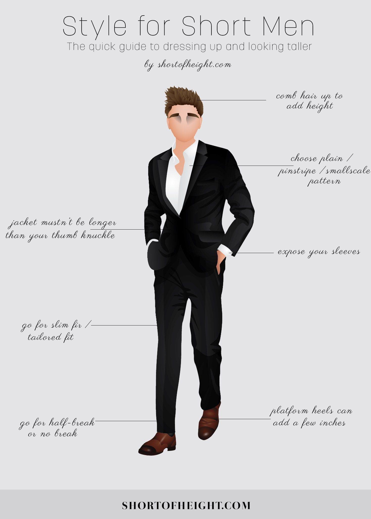 Style tips for short men infographic men fashion infographics