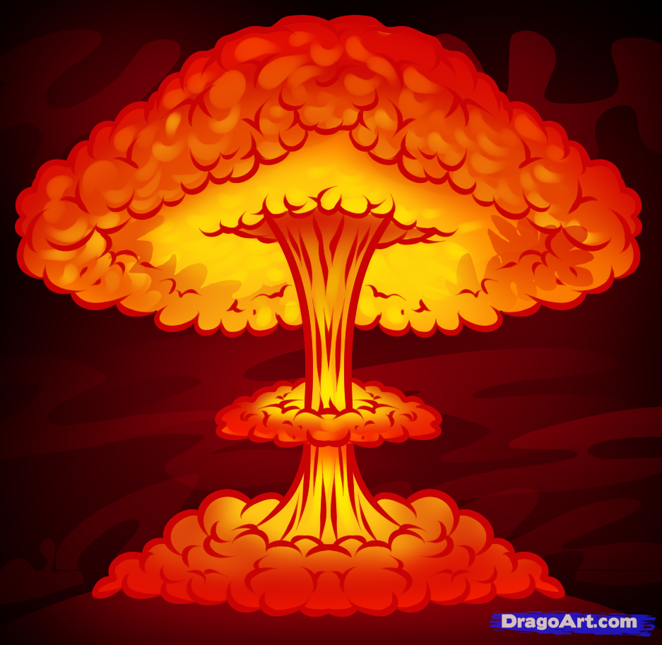 how to draw a nuke, nuclear blast | Gaming & Geekery ...