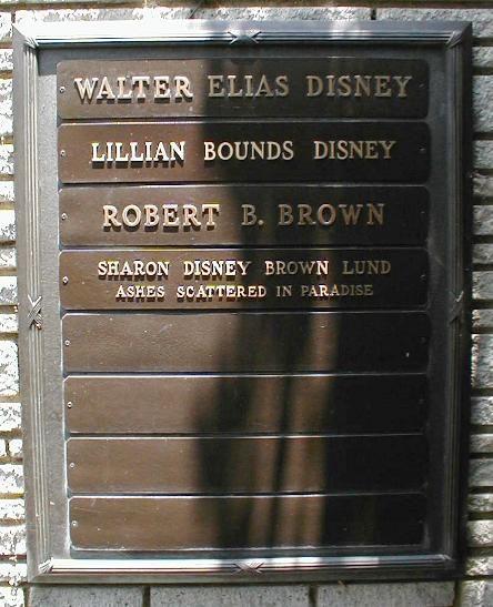 Walt Disney 1901 1966 Forest Lawn Memorial Park Glendale
