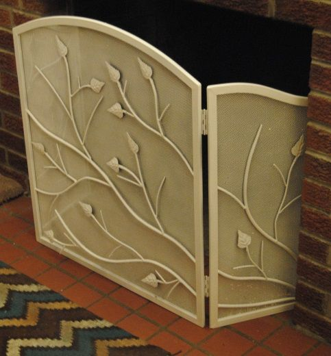 Lighten Up Diy Painted Fireplace Screen With Images