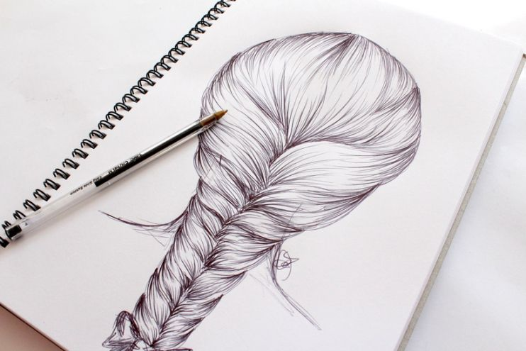 how to draw a hair braid step by step art pinterest draw