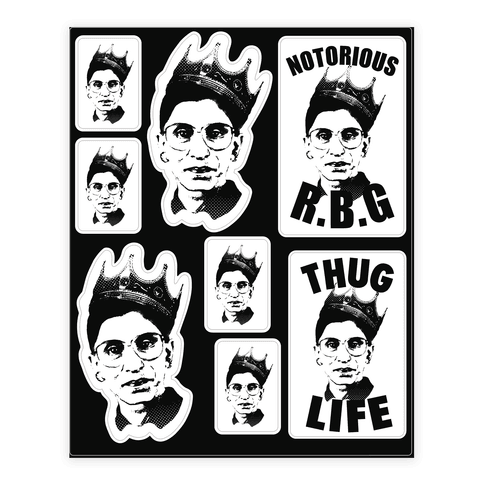 Notorious R B G Sticker Lookhuman Protest Posters Stickers Prints