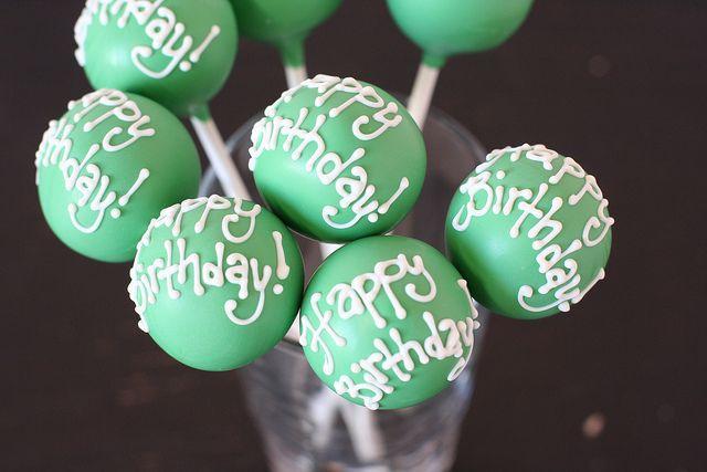 Happy Birthday Cake Pops Birthday Cake Pops Happy Birthday - Cake pop birthday cake