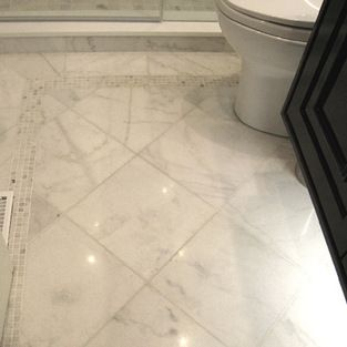 Sino Carrara Traditional Tile Toronto By Cercan Tile Inc Carrera Marble Bathroom Marble Bathroom Designs Marble Tile Bathroom