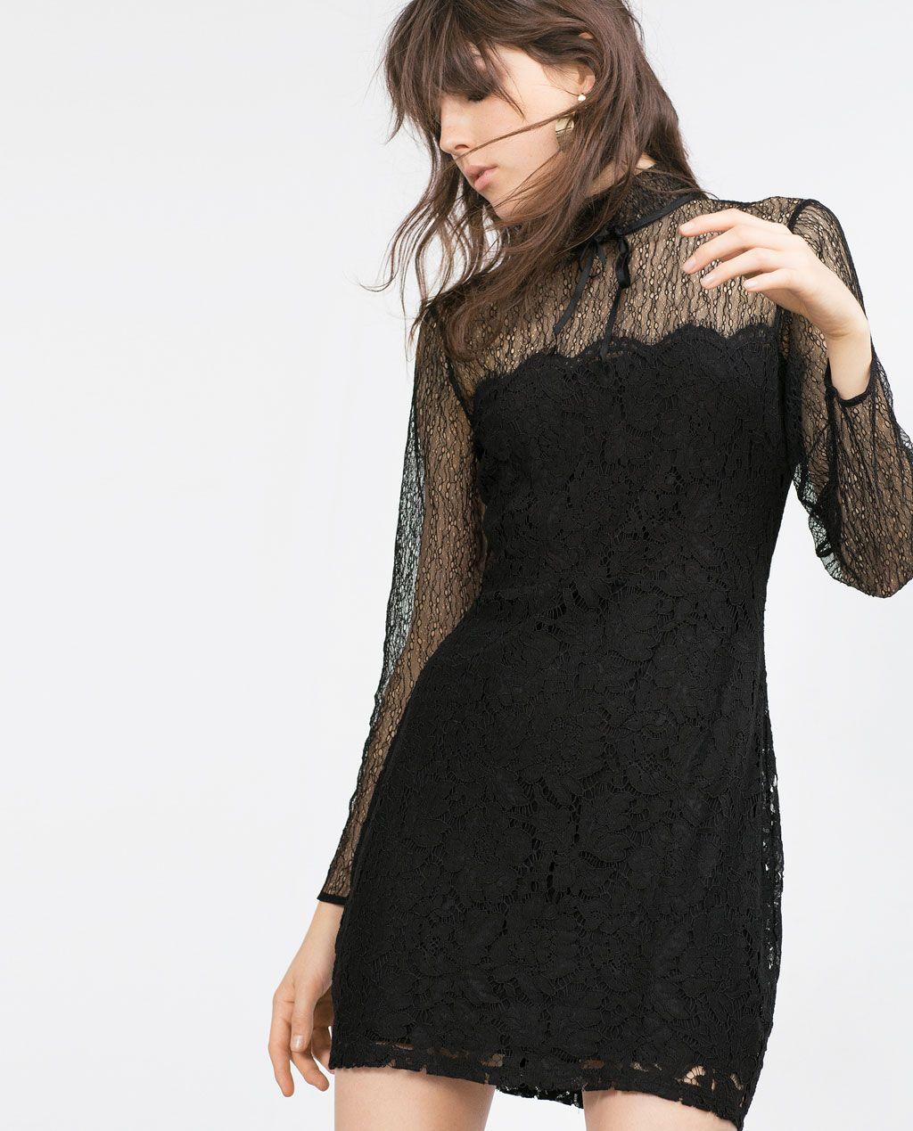 1b40f838 Image 2 of LACE DRESS from Zara | C - *A-Line & Skater | Zara ...