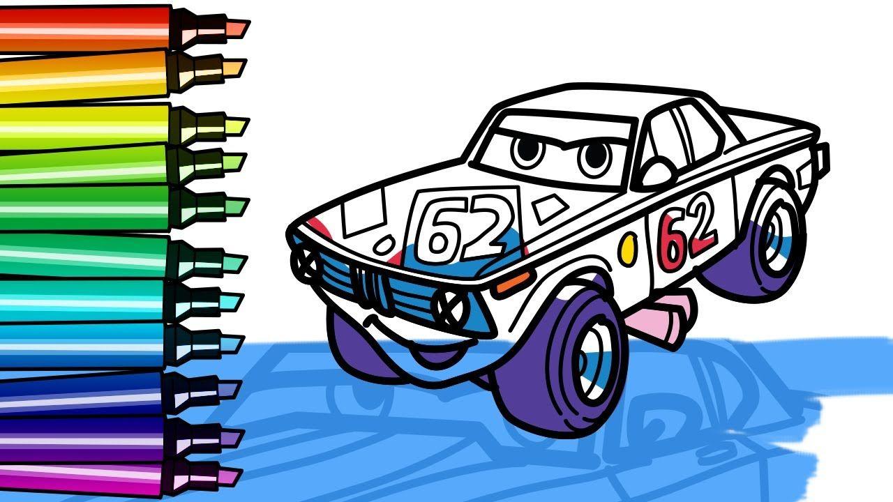 How To Draw Cartoon Drag Racing Bmw 02 Car With Big Wheels